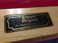 Custom-made Original Jay Orner Billiard Co Slate Pool