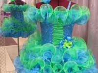 Custom pageant dresses 3 wks lead time can do most szs