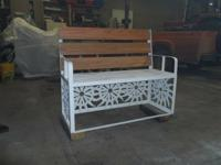 This is a brand new custom built steel framed bench for