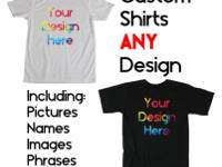 Personalized Tee Shirts Any Image!This listing is for