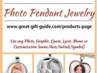Custom Photo Pendants available! Use any photo, image