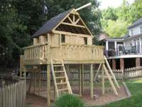 All of the playsets at Kids Korner Playsets include
