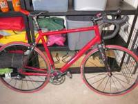 This is road bike is a size 56 and has been lightly
