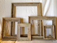 Custom-made rustic wood frames for your home or office,