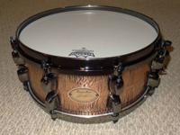 For sale custom 13x5.5 snare drum - maple shell with