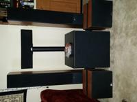 Custom ordered System Audio speaker set and subwoofer,