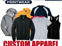 CUSTOM PRINTED T-SHIRTS, SWEATSHIRTS, HOODIES AND