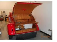 -Fully self-contained custom-made teardrop trailer.