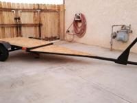 Great little custom trailer built for a small boat,