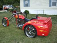2005 Custom Made Trike, One Of A Kind, Has Viper Red