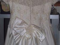 Description white/ivory embroided and sequenced long