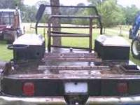 custom welding rig bed. was removed from a late model