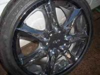 Thiese ane new chrome wheels that have never even been