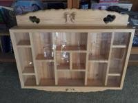 Very well built sturdy Custom Display Case for antiques