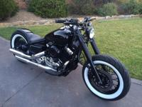XVS 650 2002 CUSTOM BOBBEROne of a kind bobber simply