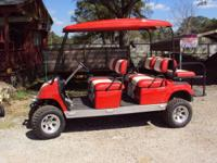 Custom 6 passanger Yamaha gas golf cart. This cart has