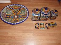 CUSTOM BLUE SINK & ACCESSORIES- MADE IN MEXICO SINK