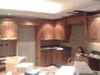 High End kitchen cabinets with crown mouldings,