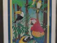Custom Framed Art Work Macaw Parrots I am a custom