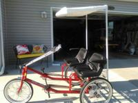 This beautiful 2 seater trike was specially made in New