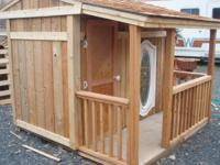BEAUTIFUL REDWOOD CHILDREN'S PLAYHOUSE. Has 3 windows,