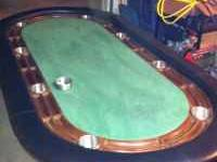 Custom Texas Hold'em poker table. Solid wood and custom