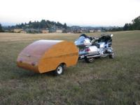 Camp trailer for your motorcycle 40 x 60 Inches 12 volt