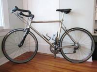 Refined Titanium roadway and tri bike for sale.  This
