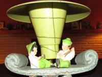 We're selling an antique chinese figurine lamp.  I