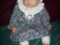 Cute as a Button Vinyl Doll by Tim Wilson 20""