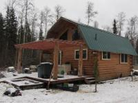 Cute little log cabin on 1.67 acres in Willow.
