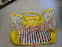 Adorable summer clear tote from DSW shoes. In new