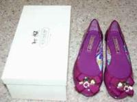 I bought new Coach shoes a couple months ago. Purple