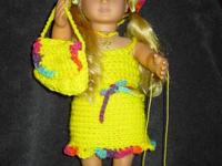 Cute Crochet 18 inch doll clothes ( Fits American Girl