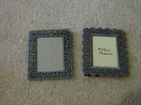 cute little ornate tiny picture frames. If you do an