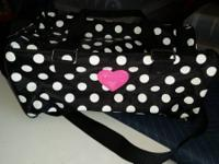 For sale is an extremely cute black and white polka dot