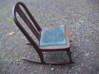 THIS IS A CUTE LITTLE REAL WOOD ROCKER!! HAS SOME NICE