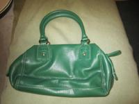 Adorable Liz Claiborne green polyvinyl purse in great