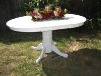 Cute white Shabby Chic dining table NO chairs table