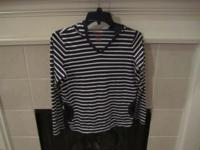Nice black and white striped long-sleeved shirt by LL