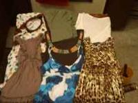 All of these tops are size medium. Prices vary, just