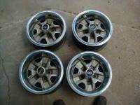 Here is a set of Oldsmobile Cutlass wheels with beauty