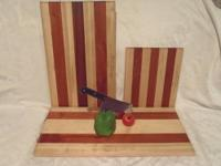 Hardwood Cutting Board Solid Maple - African Mahogany.