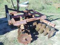 This is a used 20 disc harrow in good shape .Call Scott