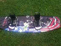 Cwb 134cm wake board with l-xxl bindings in good shape