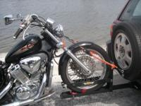 Bought a fantastic NEW quality motorcycle tow,