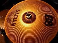 Cymbals brand name Sabian. Drums too ...not the whole