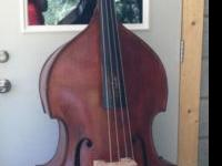 This is a Czech/German flat-back string bass made in