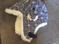 Lovable synthetic fur lined trapper design ladies's hat