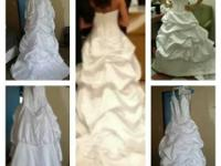 Gorgeous wedding gown just been worn as soon as.